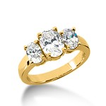 1.0 Carat Diamond Engagement Ring Oval Cut Anniversary Basket Style