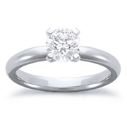 1/4 Carat Diamond 14k White Gold Solitaire Engagement Ring