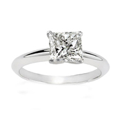 1/4 Carat Princess Diamond 14k White Gold Solitaire Engagement Ring