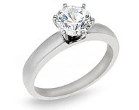 1/10 Carat Round Cut Diamond Solitaire Ring