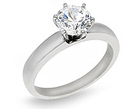 Round Cut Diamond Solitaire Ring .15 Carat